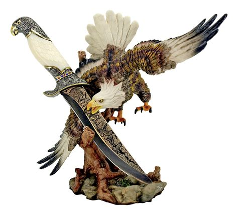 decorative knives 11 quot eagle statue with decorative knife