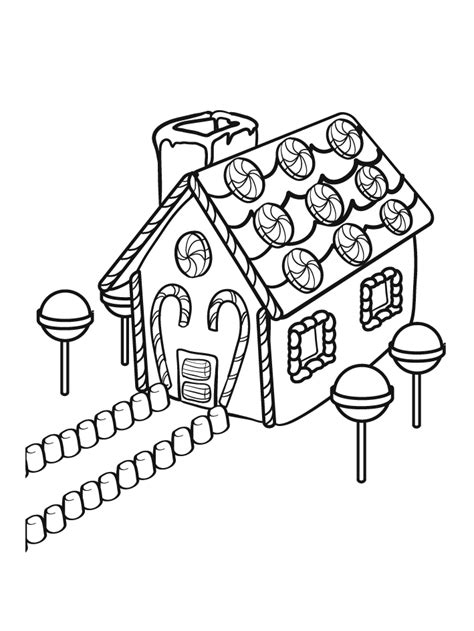 coloring pages of christmas houses gingerbread house coloring pages to print coloring home