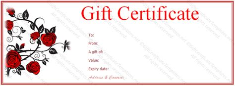 personalized gift certificate template art business gift certificate