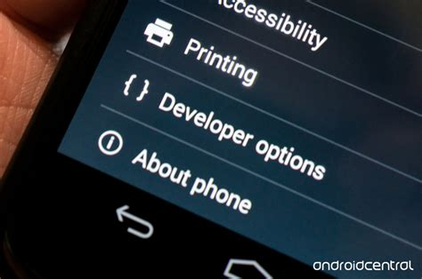 developer options for android all about your phone s developer options android central