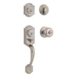 Front Door Handle Lock Set Kwikset Montara Two Point Handleset