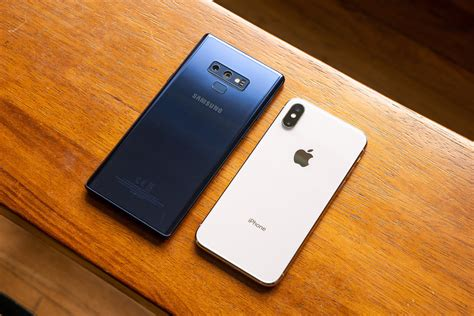 samsung galaxy note 9 vs apple iphone x phonearena