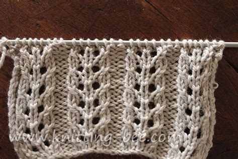 yf knitting eyelet rib knitting bee