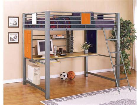 study loft bed teen trends full over study loft bunk bed locker style bed