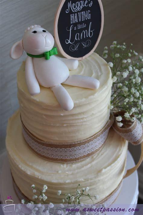 lamb baby shower cake sweet passion cakery