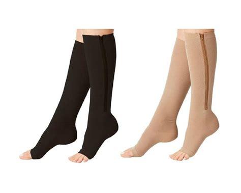 Zipper Unisex by Unisex Open Toe Zipper Compression Socks Ebay