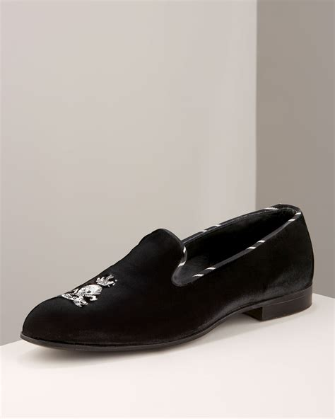 black velvet loafers mens barker black velvet loafer in black for lyst
