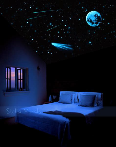 ceiling glow in the stickers 200 1000 moon