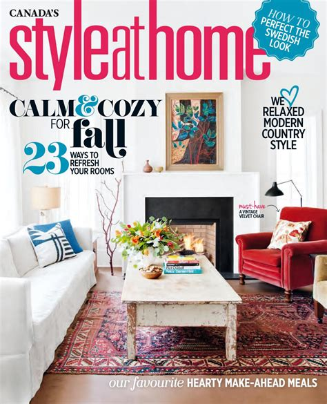 home decor magazine canada magazine style at home october 2016 canada read online
