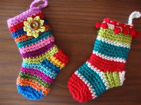 pattern for little christmas stocking cute crochet christmas sock decorations