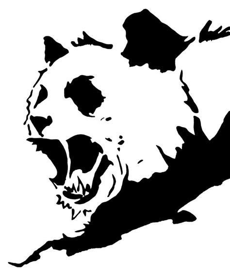 Panda Tattoo Template | angry panda stencil template t shirt design stencil jack