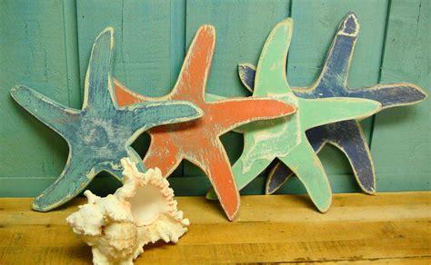 wood starfish wall decor starfish sign house wall decor by castawayshall
