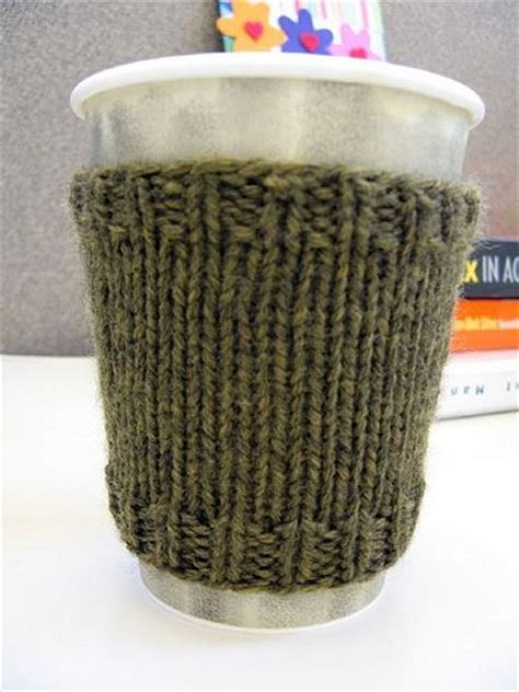 coffee sleeve knitting pattern coffee cozy coffee and knits on