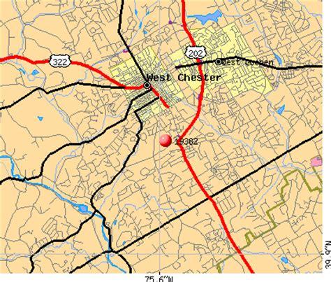 zip code map western pa 19382 zip code west chester pennsylvania profile