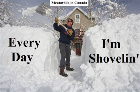 Canada Snow Meme - canada crazy as a bag of hammers
