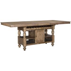 dining room island tables intercon lake house counter height gathering island table