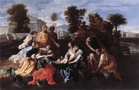 the finding the finding of moses by poussin nicolas