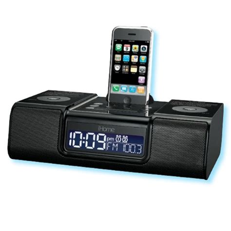 pre set ihome 174 audio system for the ipod 174 and iphone never set the time again charges and