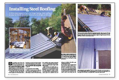 Installing Steel Roofing Fine Homebuilding   installing steel roofing fine homebuilding
