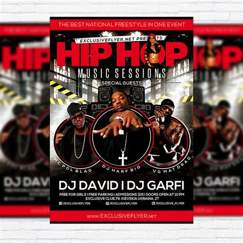 free hip hop flyer templates hip hop sessions premium flyer template