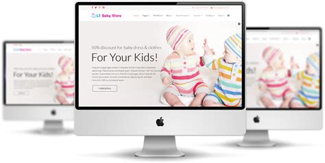 shopsite templates lt baby shop free clothes store hikashop joomla