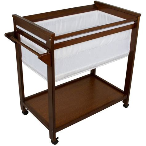 bebe care wooden baby bassinet crib in walnut buy baby