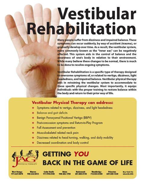 vestibular therapy exercises vestibular rehabilitation services special programs and