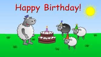 happy birthday funny animated sheep cartoon happy