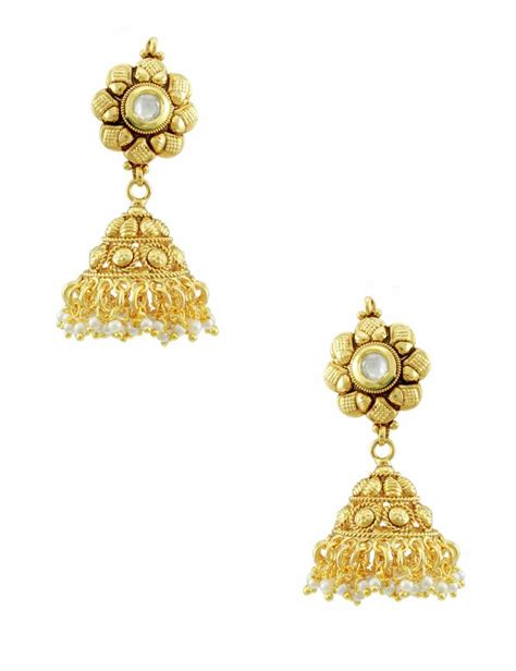 design earrings online buy vilandi kundan jhumka earrings online