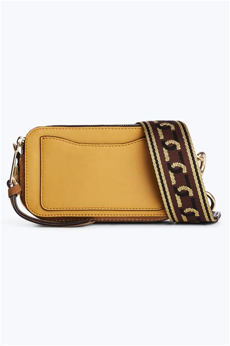 Marc Snapshot Small 1 marc small chain snapshot suede bag yellow