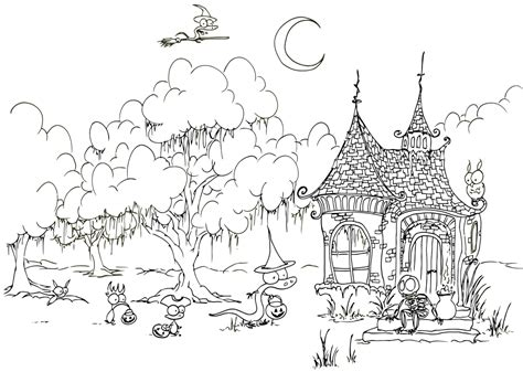halloween coloring pages detailed halloween coloring pages 1 coloring kids