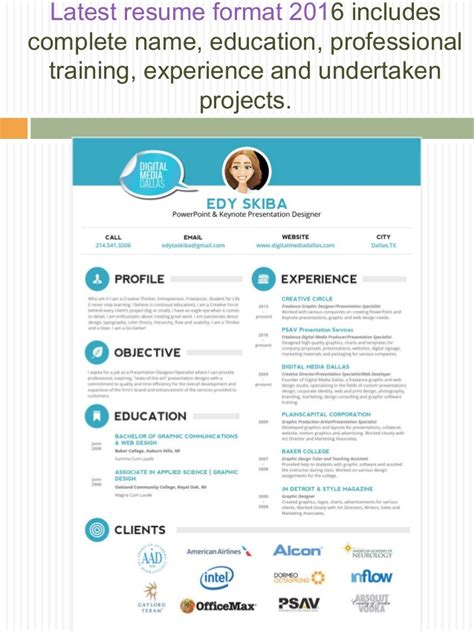 current resume style 2016 professional resume format 2016