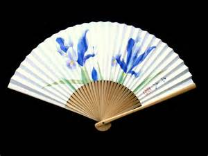 japanese folding fan japanese fan japanese vintage folding fan flowers f39
