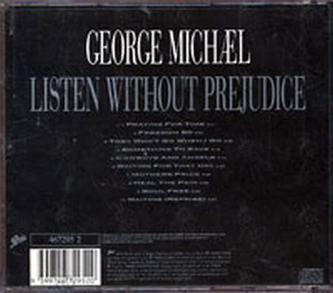 Cd George Michael Listen Without Prejudice michael george listen without prejudice vol 1 album cd records
