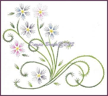 pattern paper greeting card spring flowers and vines embroidery pattern for greeting cards