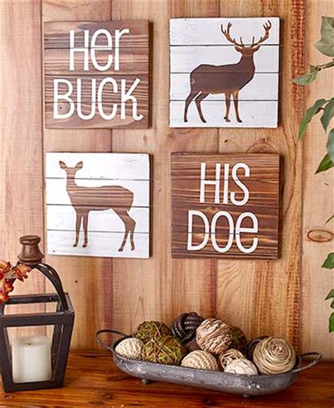 woodland home decor 4 pc woodland wall decor set ltd commodities