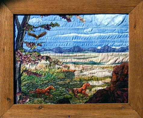 Landscape Quilt Artists Spirit Of American West Iii A Fabric Ladndscape Quilt