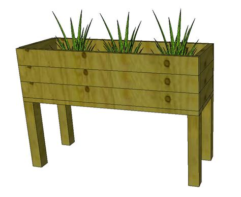 Elevated Planter Box by Diy Flower Box Plans Free Pdf Woodworking Diy