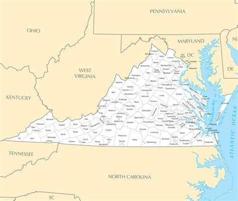 maps of virginia virginia maps political physical cities and blank outline