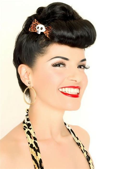 Frisuren 50er 60er by 140 Rockabilly Frisuren Den 50er Inspiriert