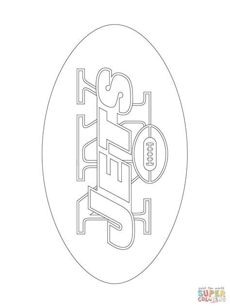 New York Jets Logo coloring page | Free Printable Coloring
