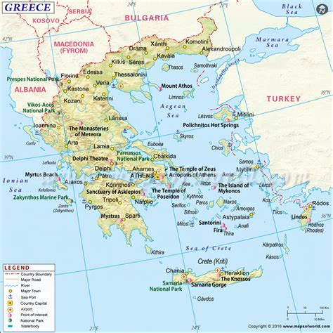 travel directions and map greece map