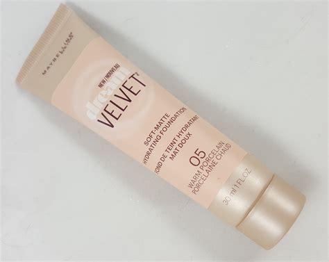 Maybelline Velvet Foundation lainamarie91 new maybelline velvet soft matte hydrating foundation review