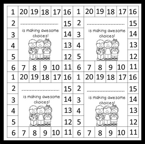 punch card template student monday made it behavior punch cards behavior punch