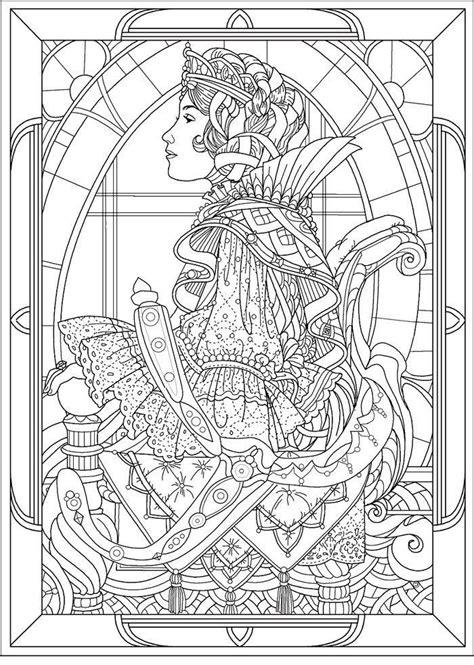 art nouveau coloring page coloring home