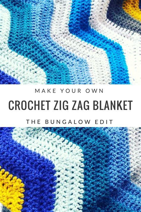 single crochet zig zag pattern make your own crochet zig zag blanket the bungalow edit