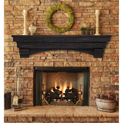 pearl mantels pearl mantels celeste fireplace mantel shelf jet com