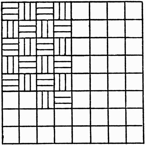 alternating pattern in art inscribed alternating horizontal and vertical lines