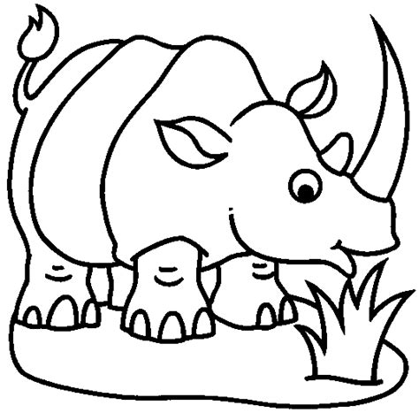 imagenes para colorear rinoceronte rinoceronte dibujalia dibujos para colorear animales
