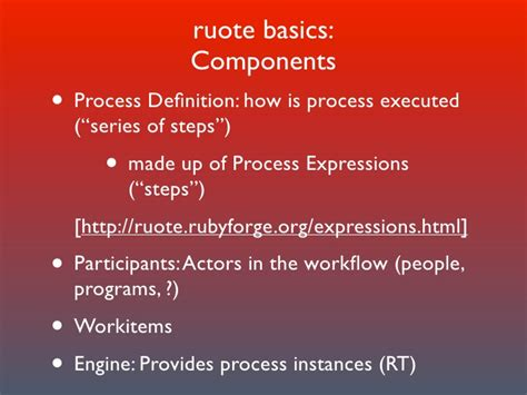 ruby workflow ruote a ruby workflow engine